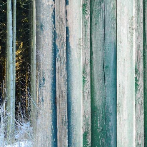 ontwerp hout blauwgroen detail