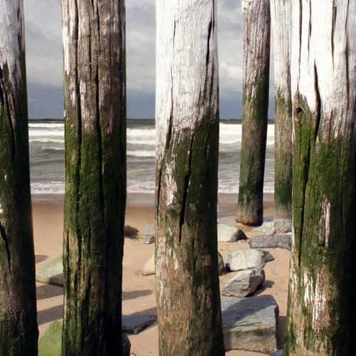 ontwerp strandpalen detail