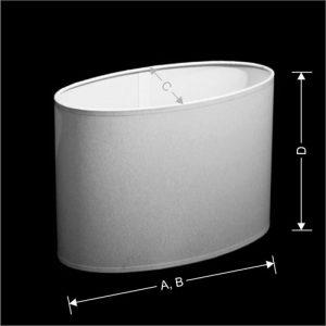 Lampenkap Model Elips (Ovaal Recht)