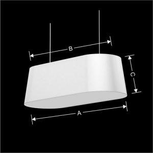 Lampenkap Model Ovaal Cake